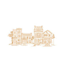 house old fashioned vector image