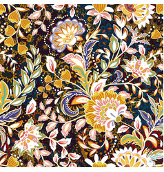 Incredible color flower pattern multicolored vector