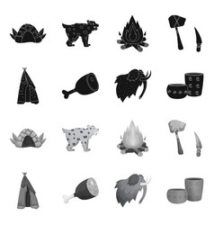 Isolated object evolution and neolithic logo vector
