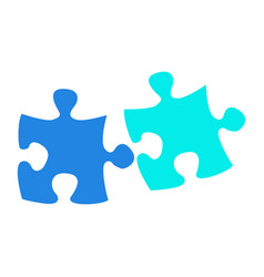 Isolated puzzle pieces vector