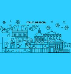 Italy brescia winter holidays skyline merry vector