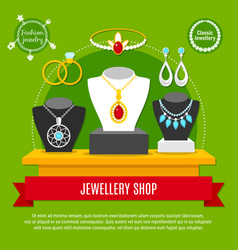 Jewelry shop composition vector