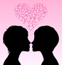 Lesbian love vector image
