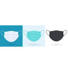 medical or surgical face shield blue white black vector image
