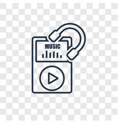 music player concept linear icon isolated on vector image