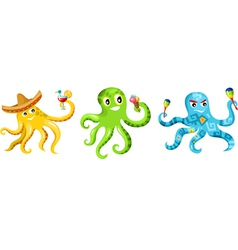 Octopus set vector