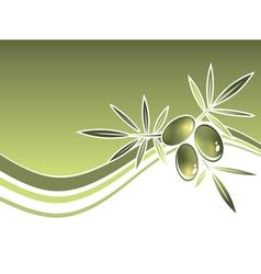 Olives Wavy Frame vector image