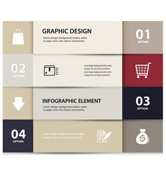 paper e commerce and numbers design template vector image