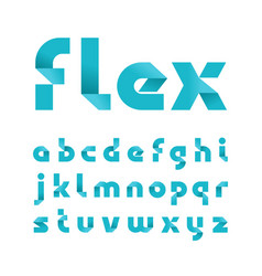paper font alphabet with fold effect letters vector image
