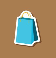 Paper sticker fashion clothes paper bag vector