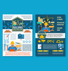 poster for home building construction vector image