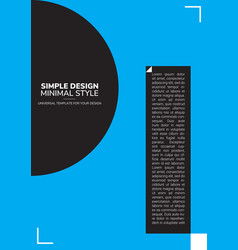 Poster simple design vector