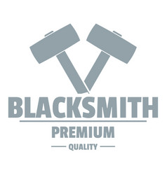 Premium blacksmith logo simple gray style vector