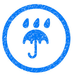 Rain protection rounded grainy icon vector