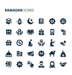Ramadan icon set fillio black icon series vector