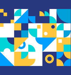 retro geometric abstract background vector image