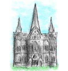 Salisbury cathedral vector