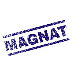 scratched textured magnat stamp seal vector image