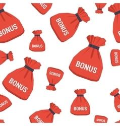 Seamless pattern - bonus bag vector image vector image