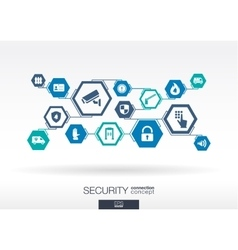 Security network Hexagon abstract background vector