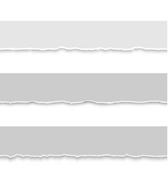 Set of grey torn papers vector