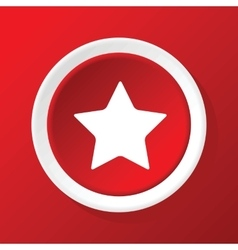 Star icon on red vector image