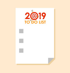 sticker with to do list 2019 vector image