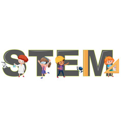 Students character with stem logo vector
