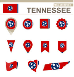 Tennessee flag collection vector