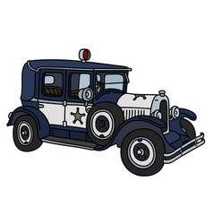 The vintage police car vector