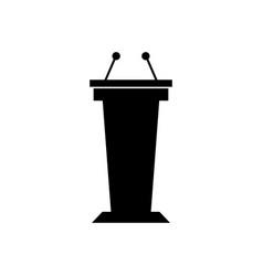 tribune icon vector image