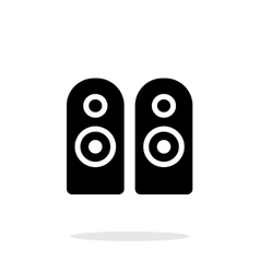 Two audio speakersicon on white background vector image