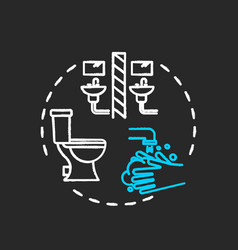 Use separate bathroom chalk rgb color concept vector