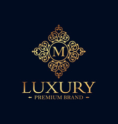 Vintage and luxury logo design template vector