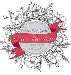 Vintage elegant wedding invitation or card Save vector