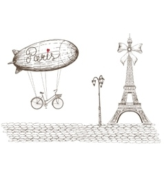Vintage of Paris vector image