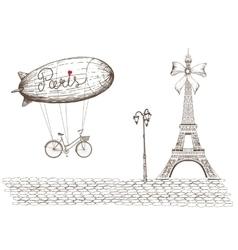 Vintage of Paris vector image