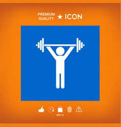 Weightlifting dumbbell training icon vector