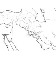 World map mesopotamia sumer akkad babylonia vector