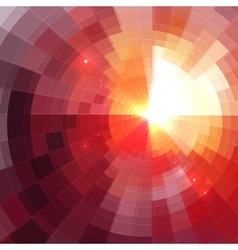 Abstract red shining circle tunnel background vector image