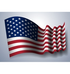 american flag isolated vector image vector image