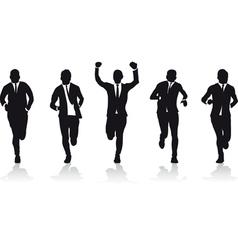 business men running vector image vector image