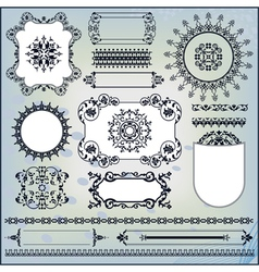 ornamental pattern on blue background vector image vector image