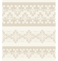 Set of lace ribbons vector image