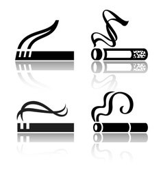 Set of signs cigarettes vector image vector image