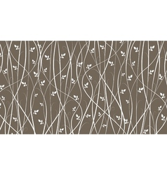 silhouette of vines on brown background vector image