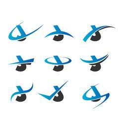 Alphabet J Logo Icons vector image vector image