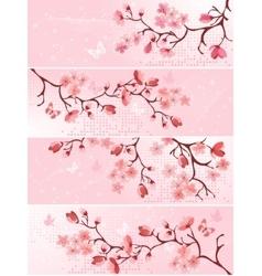 Cherry blossom banner vector image