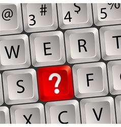 computer keyboard question key vector image