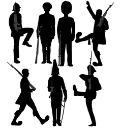 Guard Soldier Silhouette vector image vector image